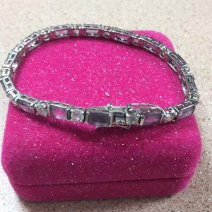 Jewelry - Amethyst sterling silver bracelet